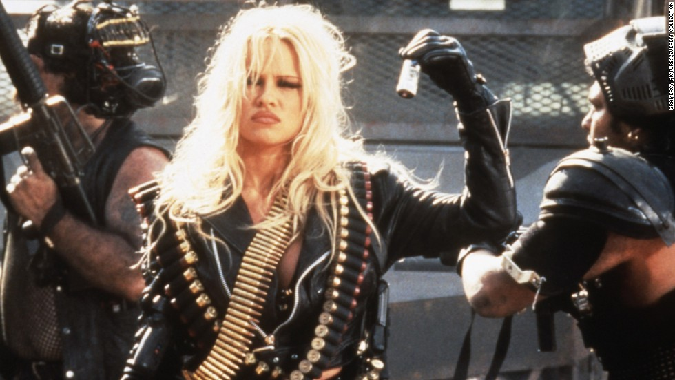 "Anderson played the title character in the post-apocalyptic ""Barb Wire."""