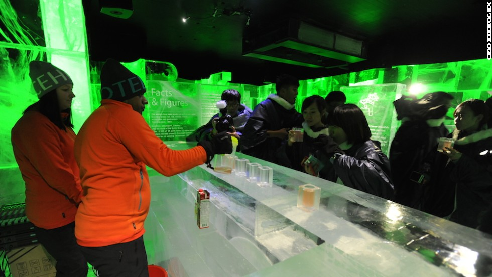 Qingdao has invited plant lovers and garden experts from 37 countries and regions, which have set up various pavilions. Sweden's pavilion has its own Ice Bar, an homage to the country's famed Ice Hotel.