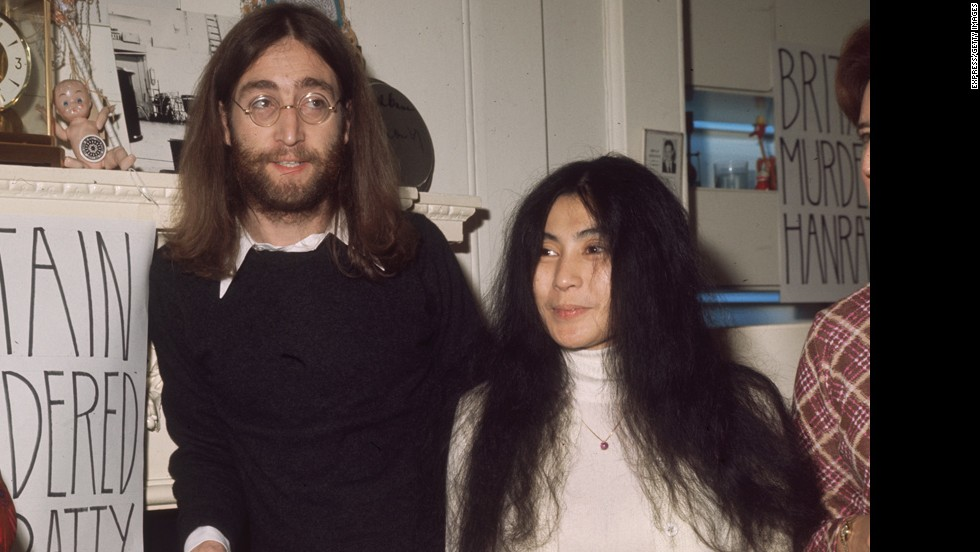 John Lennon -- seen here in 1969 with his wife, Yoko Ono -- was shot and killed in December 1980 outside of his apartment building in New York by Mark David Chapman. Chapman remains jailed.