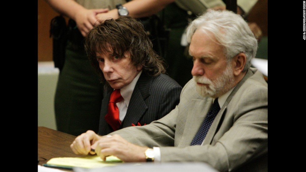 "Music impresario Phil Spector, left, <a href=""http://edition.cnn.com/2009/CRIME/05/29/spector.sentencing/"">was sentenced to 19 years to life in 2009 for the shooting death of actress Lana Clarkson. </a>"