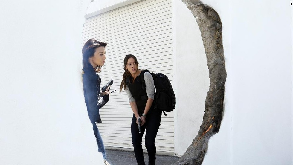 "Ming-Na Wen, left, and Chloe Bennet are featured in ""Marvel: Agents of S.H.I.E.L.D.,"" which was<a href=""http://herocomplex.latimes.com/tv/marvels-agents-of-s-h-i-e-l-d-renewed-for-second-season-on-abc/#/0"" target=""_blank""> picked up for a second season </a>by ABC."