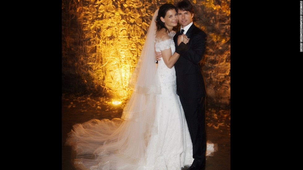 Tom Cruise and Katie Holmes had a wedding befitting their superstar status when they married at a castle in Bracciano, Italy, in 2006. The couple divorced in 2012.
