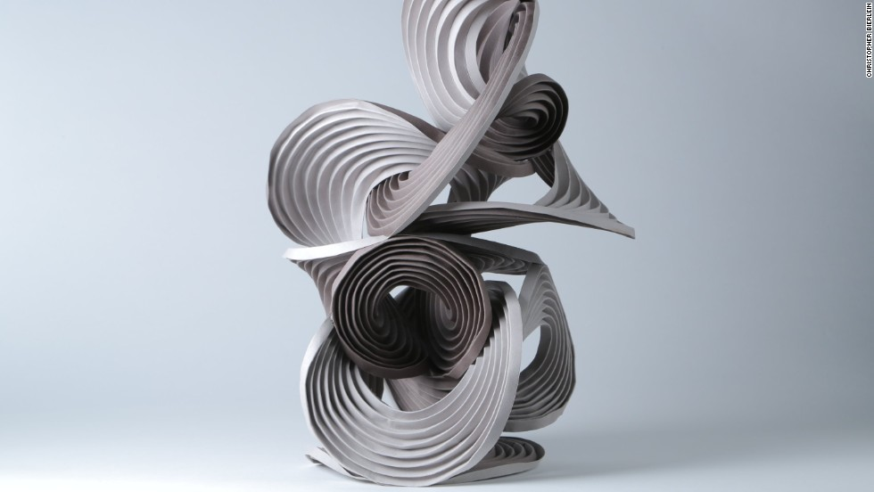 "Erik and Martin Demaine created this swirling work. Nguyen says they are among the only origami artists to cross over into the mainstream. ""[They] have a few pieces which are part of The Museum of Modern Art's permanent collection,"" she says."