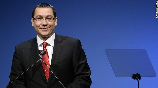 Romanian Prime Minister Victor Ponta.