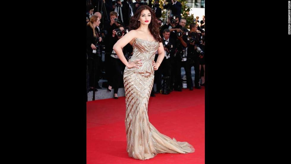 Actress Aishwarya Rai on May 20.