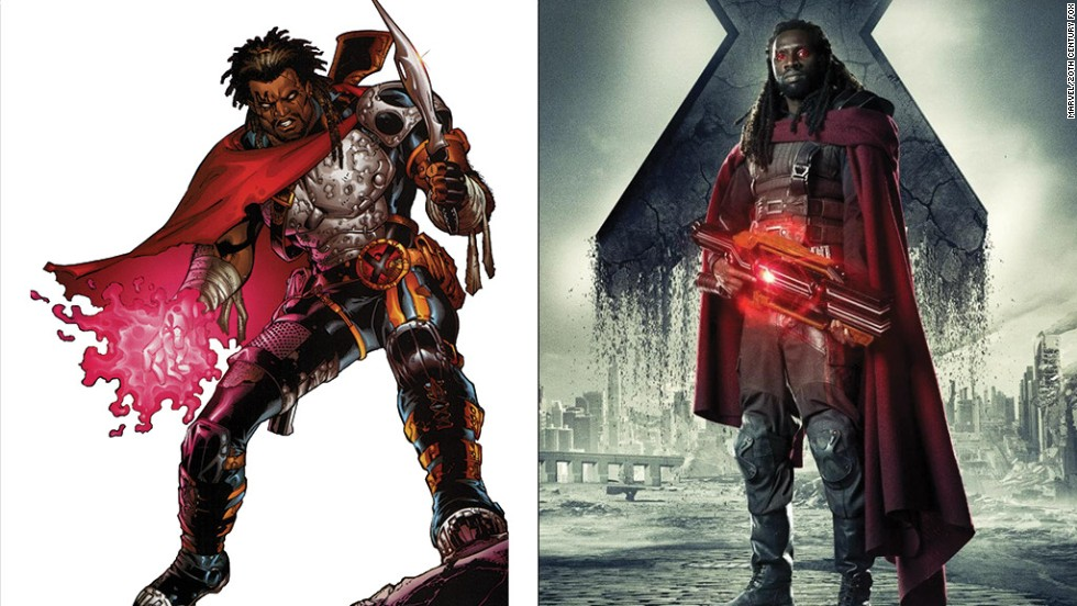 Bishop has a lot of fans among comic book readers and is portrayed here for the first time by Omar Sy.