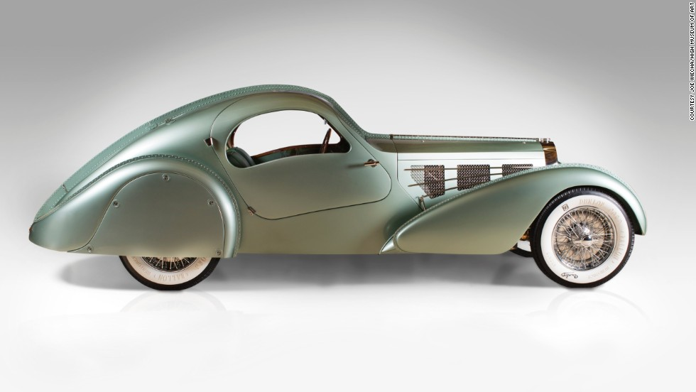 "This is a replica of the 1935 Bugatti Type 57S Compétition Coupé Aerolithe. The original was designed by Jean Bugatti himself. Steampunk fans will dig this elegant machine. It looks like something out of Disney's ""20,000 Leagues Under the Sea."""