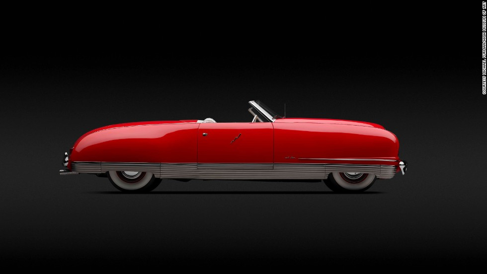 "Designed by Ralph Roberts, the Chrysler Thunderbolt was ""the first American car to feature an electrically operated, retractable hardtop and disappearing headlights, which were controlled by push buttons on a leather-covered dashboard,"" according to the museum."