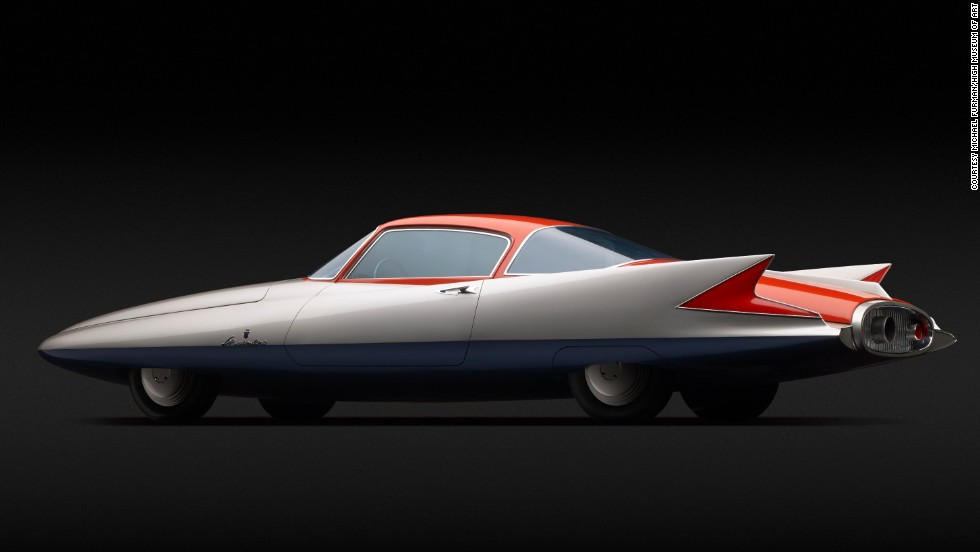 """People were more interested in their cars looking fast than actually being fast,"" said exhibit curator Sarah Schleuning. For this car, Chrysler partnered with Italian firm Carrozzeria Ghia and desiger Giovanni Savonuzzi, who nicknamed it ""Gilda"" after actress Rita Hayworth's character in the famous 1946 film."