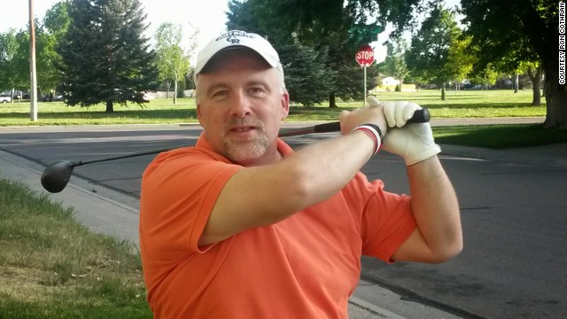 Ron Cothran says even his golf swing feels better now that he's training for a triathlon.