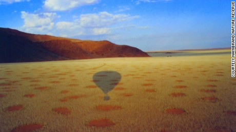 The optimal conditions for fairy circles are dry sandy desert grasslands in southwestern Africa that receive 50-100mm of rainfall in an average year.