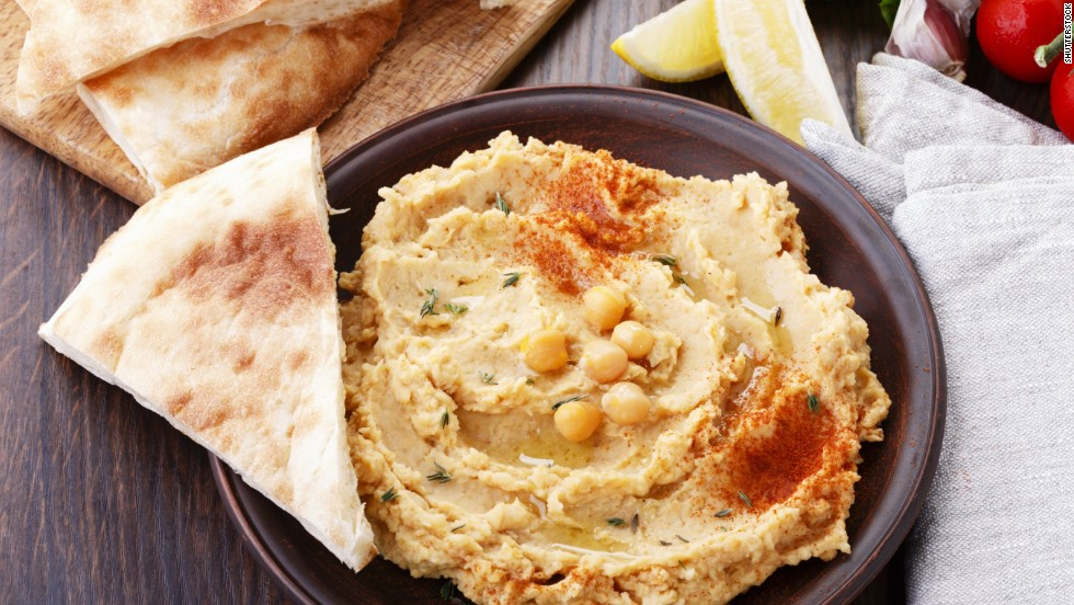 A cup of hummus has 15 grams of fiber. Made of chickpeas and spices, hummus makes a great snack. Use whole-wheat pita points to boost the fiber even more.