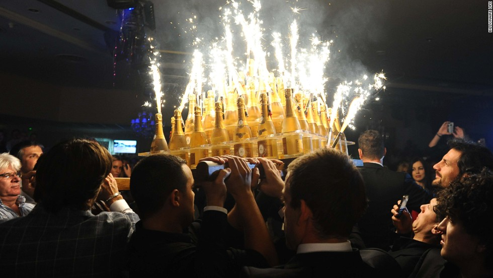 The champagne lifestyle promoted by the Billionaire Club requires numerous bottles of fizz, but organizers cannot say how much will be drunk over the race weekend.