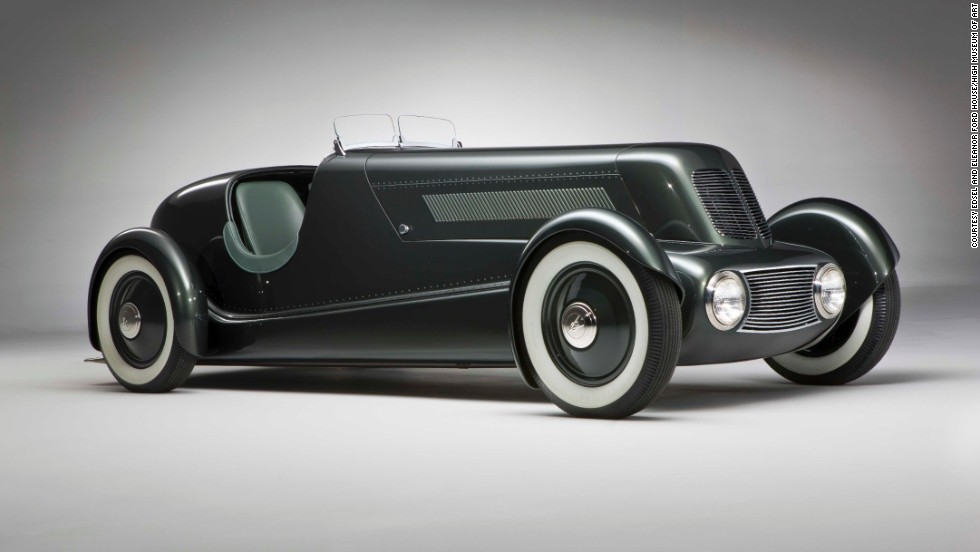 "This Edsel Ford Model 40 Special Speedster debuted in 1934. Designed by Henry Ford's son EdselFord and Eugene T. ""Bob"" Gregorie, it features a ""shapely alligator-style hood with louvered side panels,"" according to the High Museum."