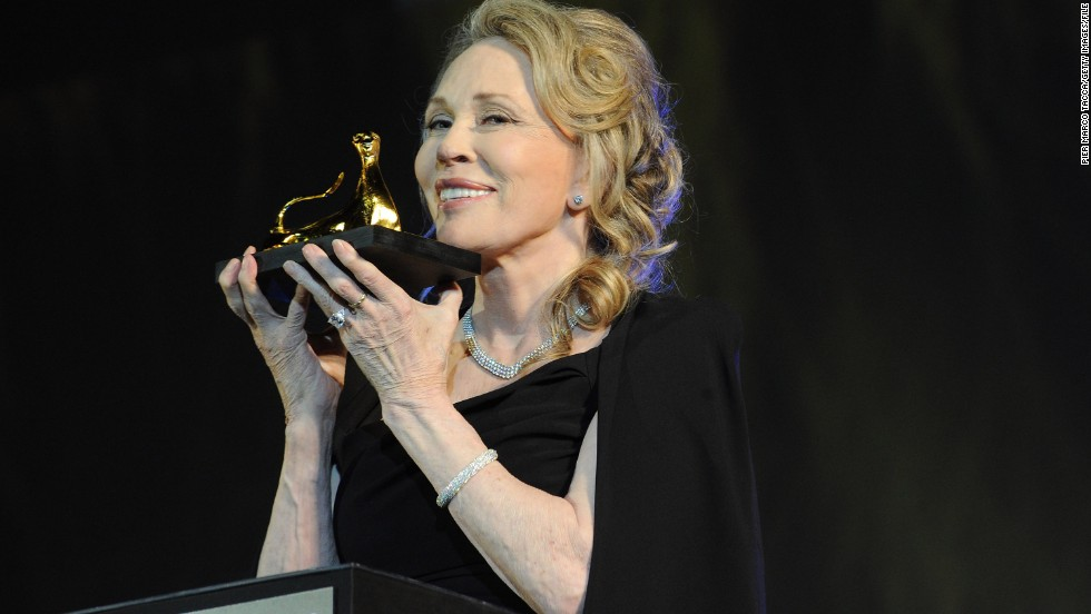 Actress Faye Dunaway, here receiving an award in 2013, is 74.