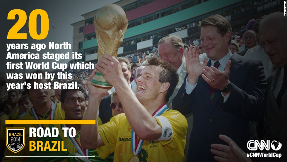 The United States hosted the World Cup for the first time in 1994. In the final, this year's host Brazil beat Italy in a dramatic penalty shootout.