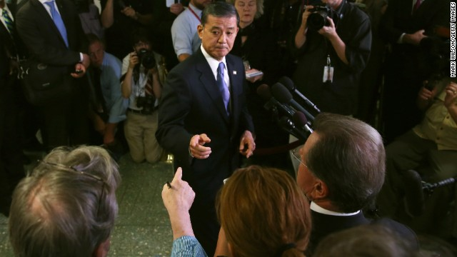 Veterans Affairs Secretary Eric Shinseki has faced criticism after reports of long delays and alleged cover-ups in veterans care.