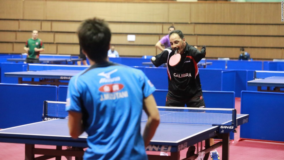 Hamadto's talent and determination shone through as he took on some of the biggest names in table tennis.