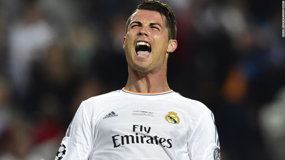 Cristiano Ronaldo shows his frustration as he tries to get his team back into the Champions League final.