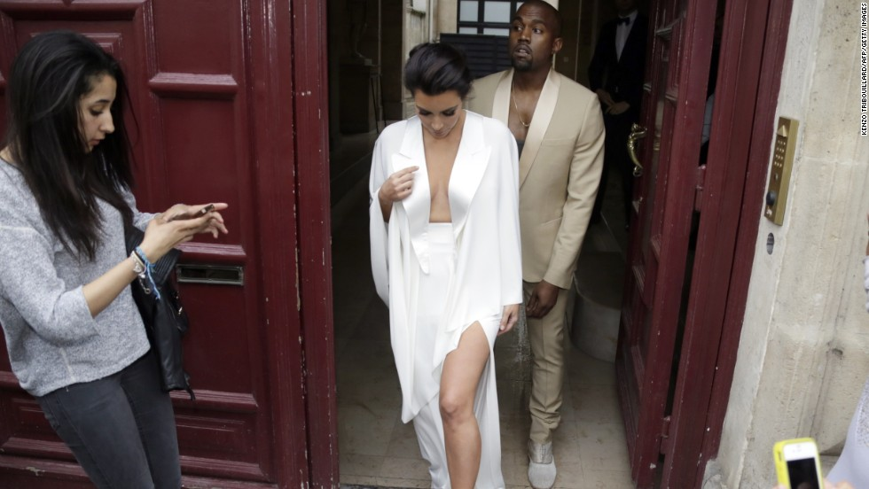"Kim Kardashian and Kanye West's 2014 wedding included a trip to Versailles, a brunch hosted by Valentino and <a href=""http://www.cnn.com/2014/05/24/showbiz/kim-kardashian-kanye-west-wedding/"">nuptials in Florence</a>."