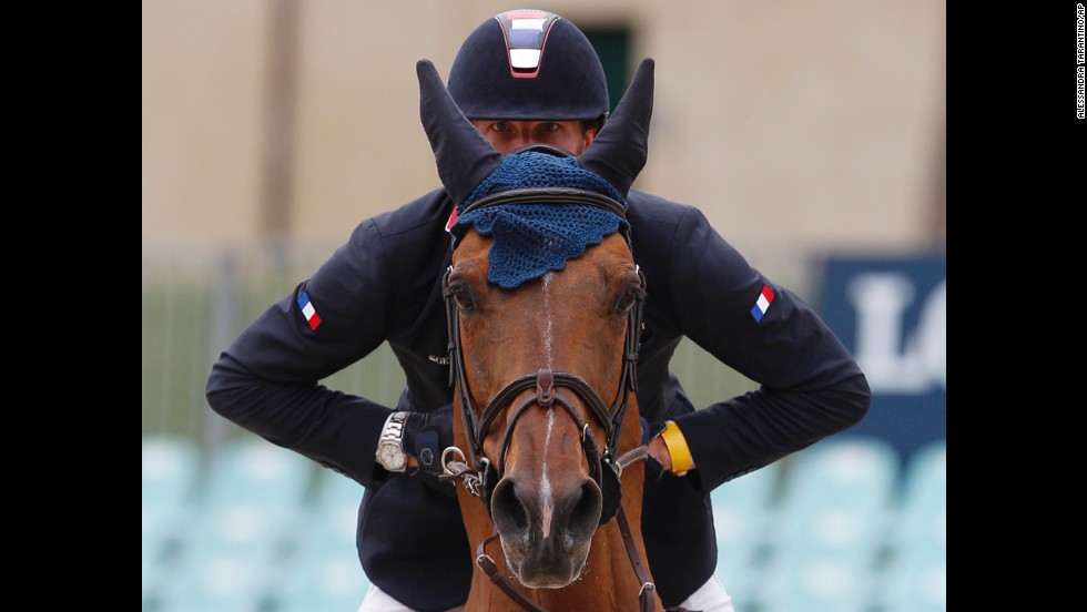 France's Kevin Staut takes part in the Nations Cup jumping competition at Rome's Piazza di Siena international horse show on Friday, May 23. Belgium won the team event.