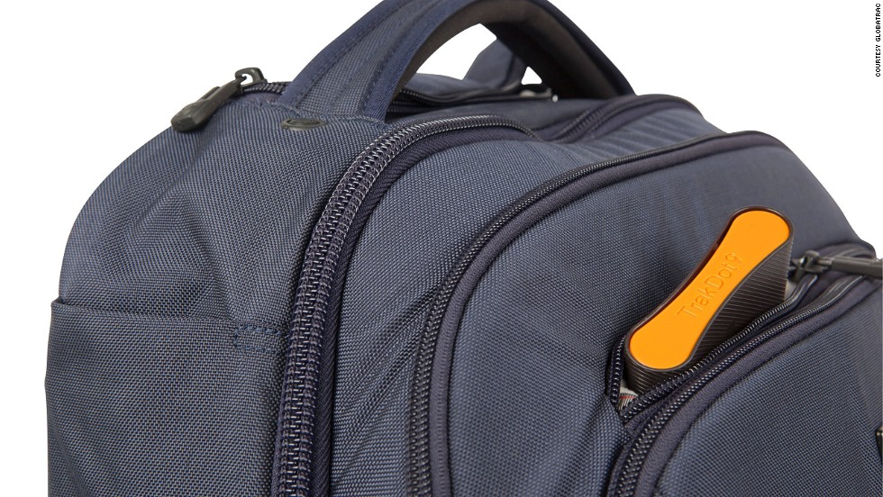 Trakdot is a compact unit outfitted with a GSM chip that you tuck in your bag, allowing you to track its location.