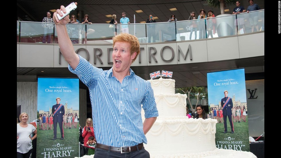 "Prince Harry lookalike Matthew Hicks appears at a promotional event for the Fox reality show ""I Wanna Marry Harry"" on Thursday, May 22, in Santa Monica, California. On the TV show, 12 American women compete <a href=""http://marquee.blogs.cnn.com/2014/05/21/fox-debuts-faux-prince-in-i-wanna-marry-harry/"">to win the affections of Hicks</a>, who they're led to believe is the actual British prince."
