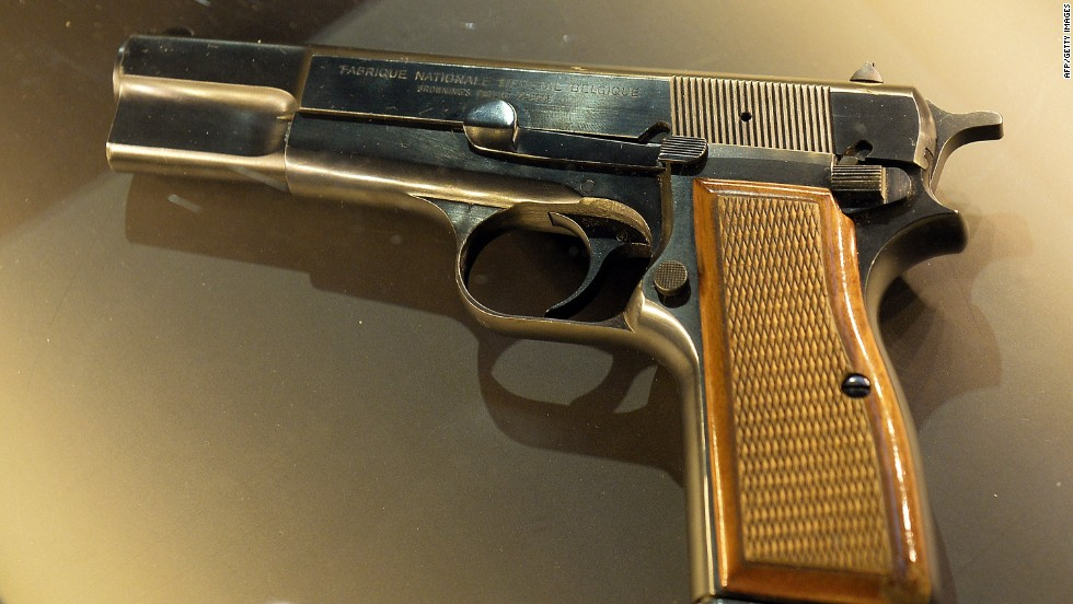 This Browning pistol, on display at the John Paul II family home museum, was used in a 1981 assassination attempt.