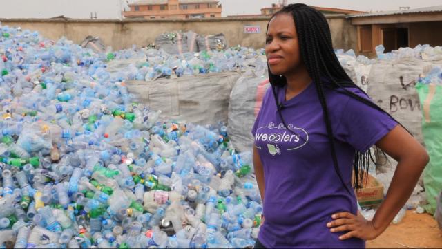 Entrepreneur makes money from trash