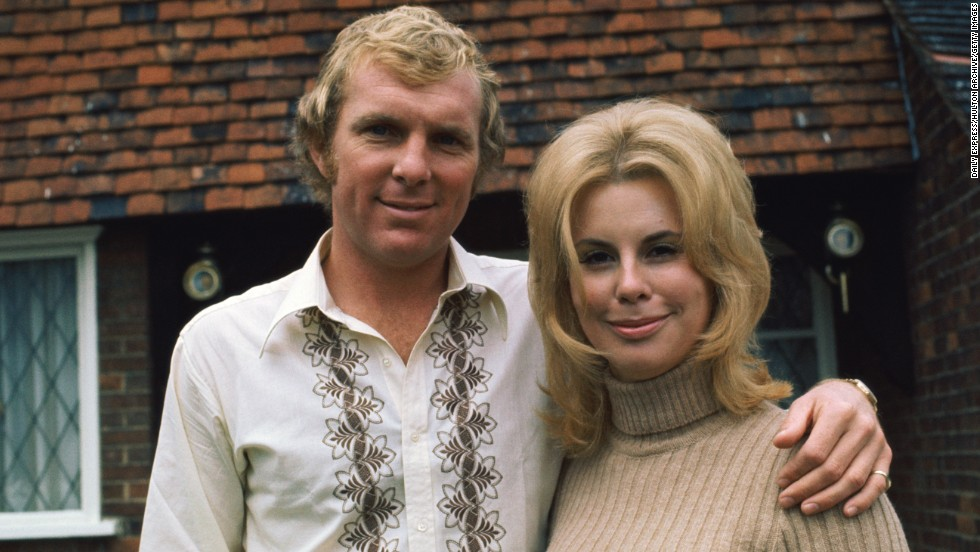 "The world of the WAG has come a long way since 1966, when Bobby Moore, pictured here with wife Tina, captained the English team to World Cup glory. The couple divorced in 1986, and after Bobby's death from cancer in 1993, Tina wrote a book called: ""Bobby Moore: By the Person Who Knew Him Best."""
