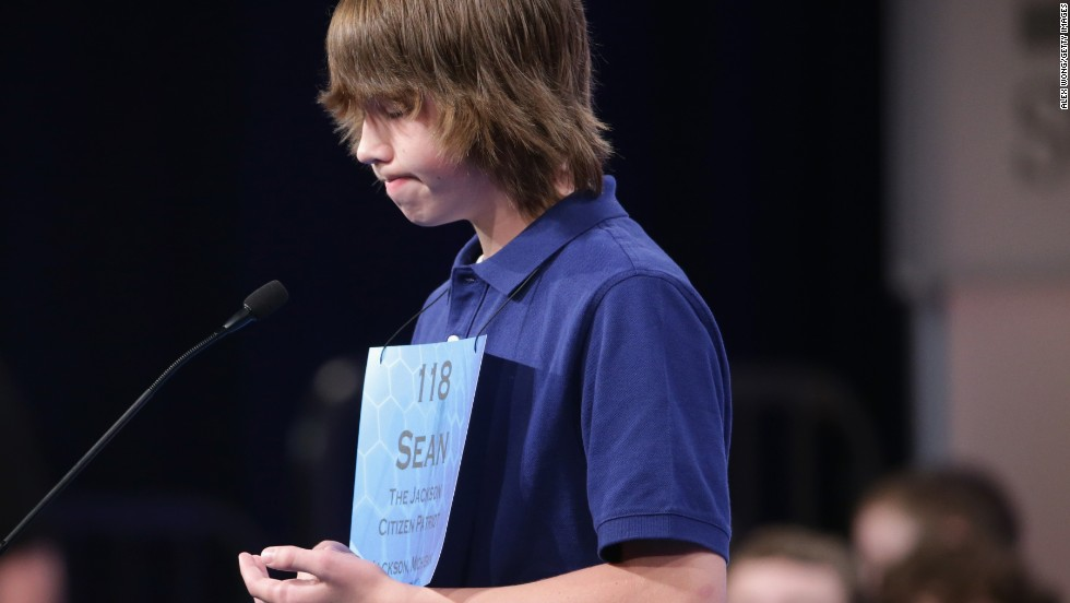 Sean Hickey, of Grass Lake, Michigan, participates in the competition on May 28.