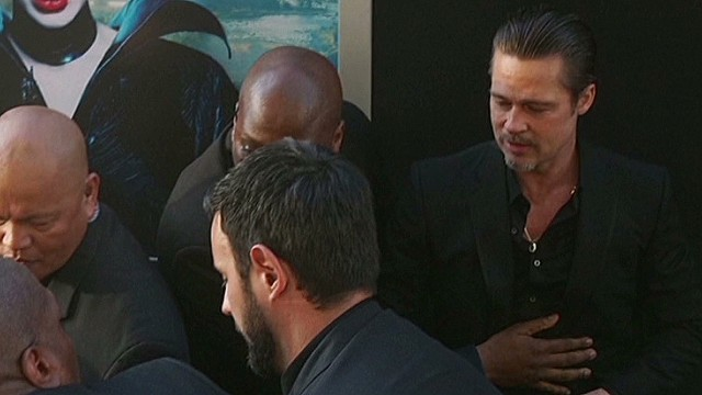 Brad Pitt attacked at movie premiere