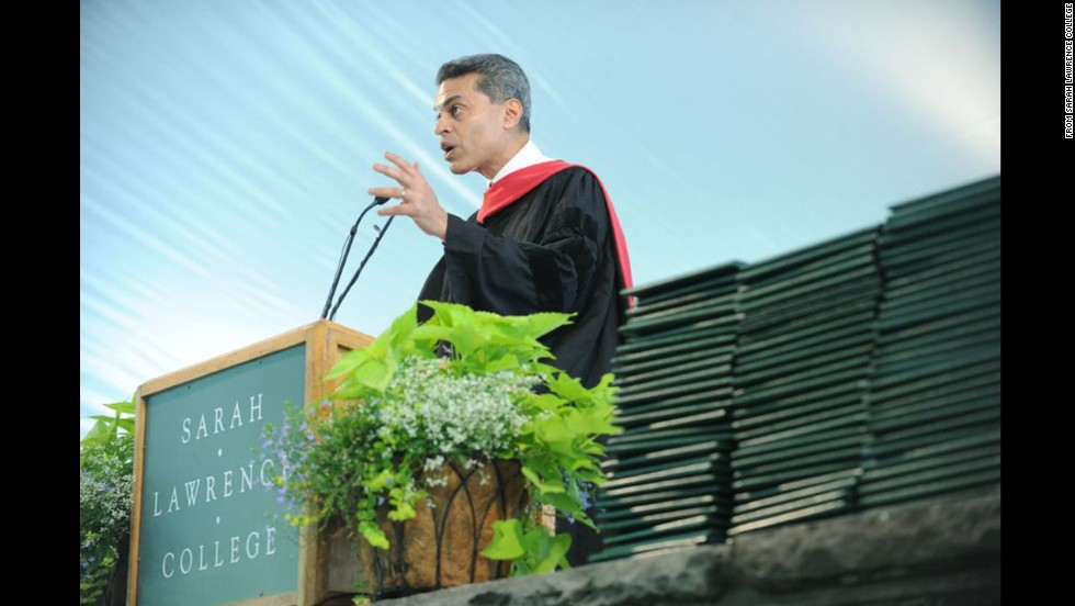 "The host of ""Fareed Zakaria GPS"" on CNN delivered the commencement address at Sarah Lawrence College on May 23."
