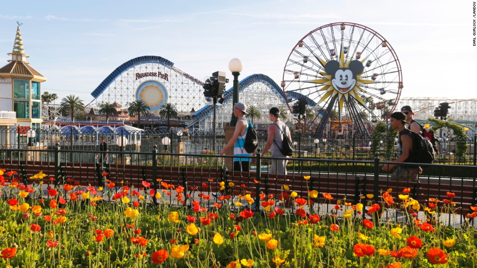 10. Disney's California Adventure Park features Mickey's Fun Wheel and the California Screamin' roller coaster.