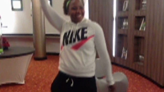 Rising tennis star does the 'Nae Nae'