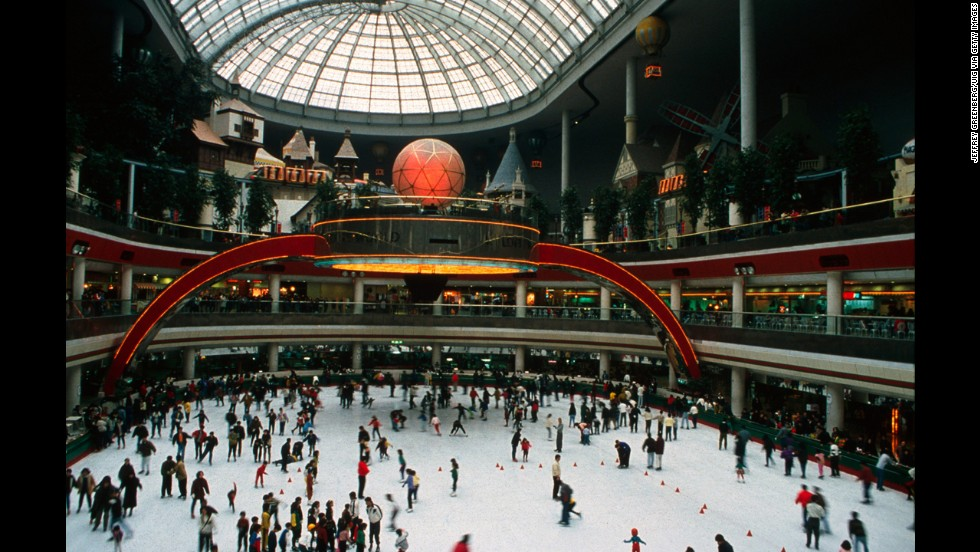 14. Lotte World in South Korea includes a theme park, shopping mall, hotel, sports facilities and a movie theater.