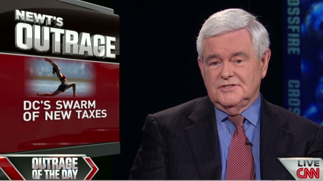 Crossfire Newt Gingrich outraged over DC's swarm of new taxes_00000822.jpg