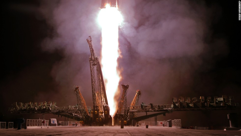 "The Soyuz TMA-13M spaceship blasts off from the Baikonur Cosmodrome in Kazakhstan, carrying a new crew to the International Space Station on Thursday, May 29. <a href=""http://www.cnn.com/2014/05/23/world/gallery/week-in-photos-0523/index.html"">See last week in 36 photos</a>"