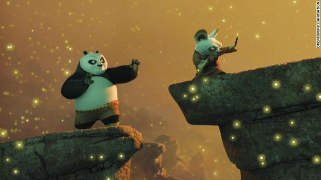 © 2008 DreamWorks Animation Titles: Kung Fu Panda Characters: Po, Shifu Kung Fu Panda (2008)