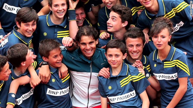 Ball boys and girls of the French Open