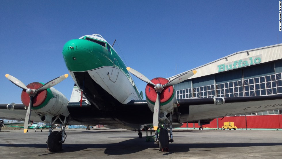 Canada's Buffalo Airways offers some of the last regularly scheduled passenger DC-3 flights in North America. The DC-3 was introduced nearly 80 years ago, and hundreds still fly around the world. Click through the gallery for more.