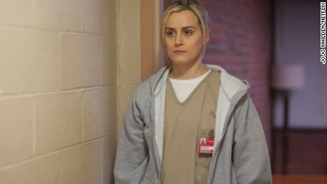 "Photo by Jojo Whilden - © 2014 - Netflix Titles: Orange Is the New Black Names: Taylor Schilling Still of Taylor Schilling in Orange Is the New Black (2013) Taylor Schilling in a scene from Netflix's ""Orange is the New Black"" Season 2. Photo credit: JoJo Whilden for Netflix."