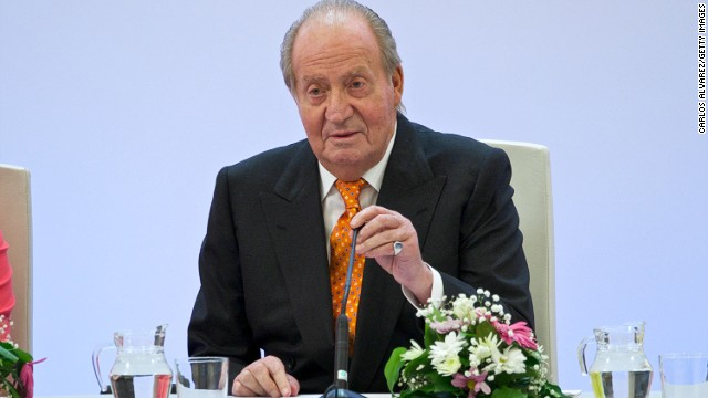 King Juan Carlos of Spain attends the 'Rey de Espana' and 'Don Quijote' journalism awards 2014 at 'Casa del Libro' on May 27, 2014 in Madrid, Spain.