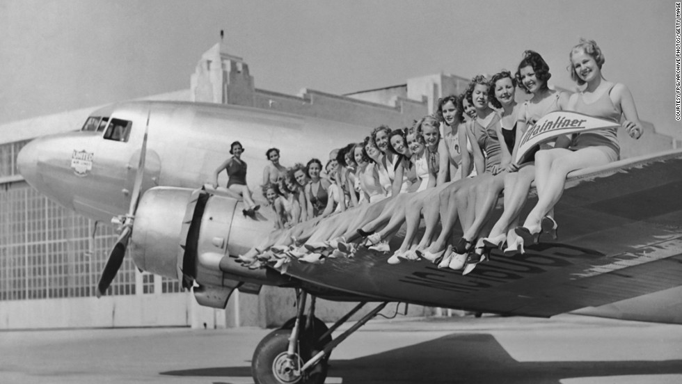 United Airlines released this promotional photo of one of its Douglas DC-3s, circa 1937.