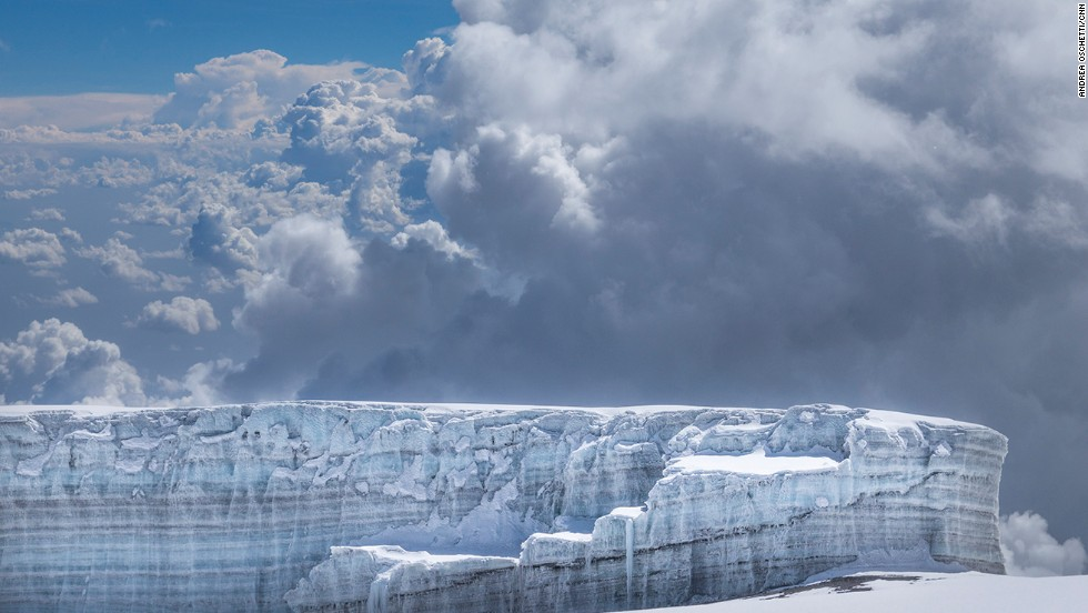 The summit of Kilimanjaro is an arctic-like climate zone, with permanent snow and glaciers, though that description may soon be inaccurate. The glaciers are disappearing, changing the face of Kilimanjaro.
