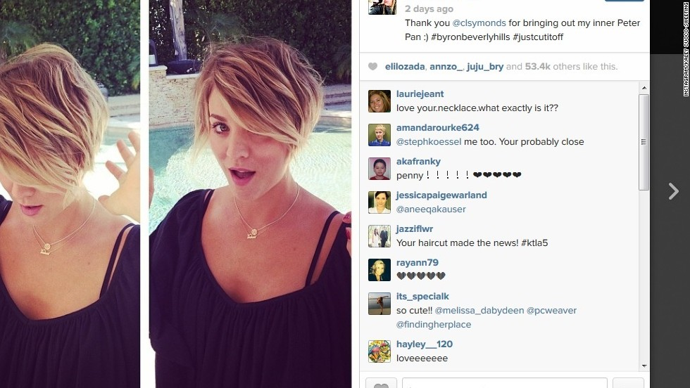 "It appears that Kaley Cuoco-Sweeting couldn't leave short enough alone. After debuting a chop in April, ""The Big Bang Theory"" star has gone even shorter with a pixie cut she called her ""inner Peter Pan"" on May 31."