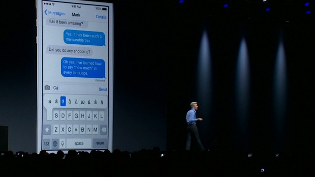 Demo of new quicktype feature for iPhone