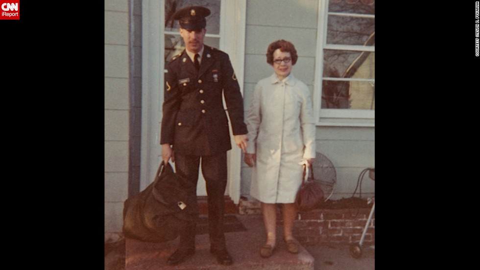 "Of course there were signs of the times in some photos, like this one showing <a href=""http://ireport.cnn.com/docs/DOC-1137463"">Steven F. Pekarna </a>leaving his Minnesota home for Vietnam in 1969: ""I was afraid to go to Vietnam -- the press gave it a one-way trip. I felt my mother trembling when I hugged her good-bye."""