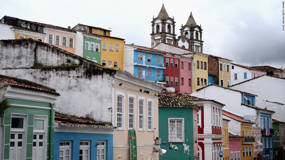Salvador's historic center, the Pelourinho, is a UNESCO World Heritage Site. It's also an important center of music and drumming.