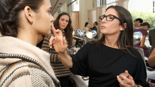 Make-Up Artist Bobbi Brown works her magic backstage during Mercedes Benz Fashion Week on September 12, 2011 in New York City.